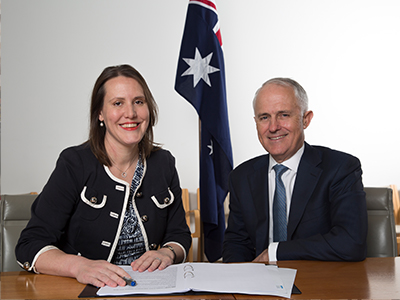 Photo of Kelly O'Dwyer as The minister assiting the prime minister